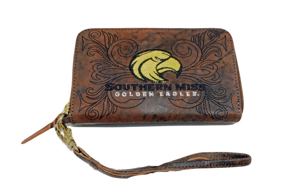 Gameday Boots Gameday Wristlet Womens College Southern Mississippi Brass USM-WR080-1