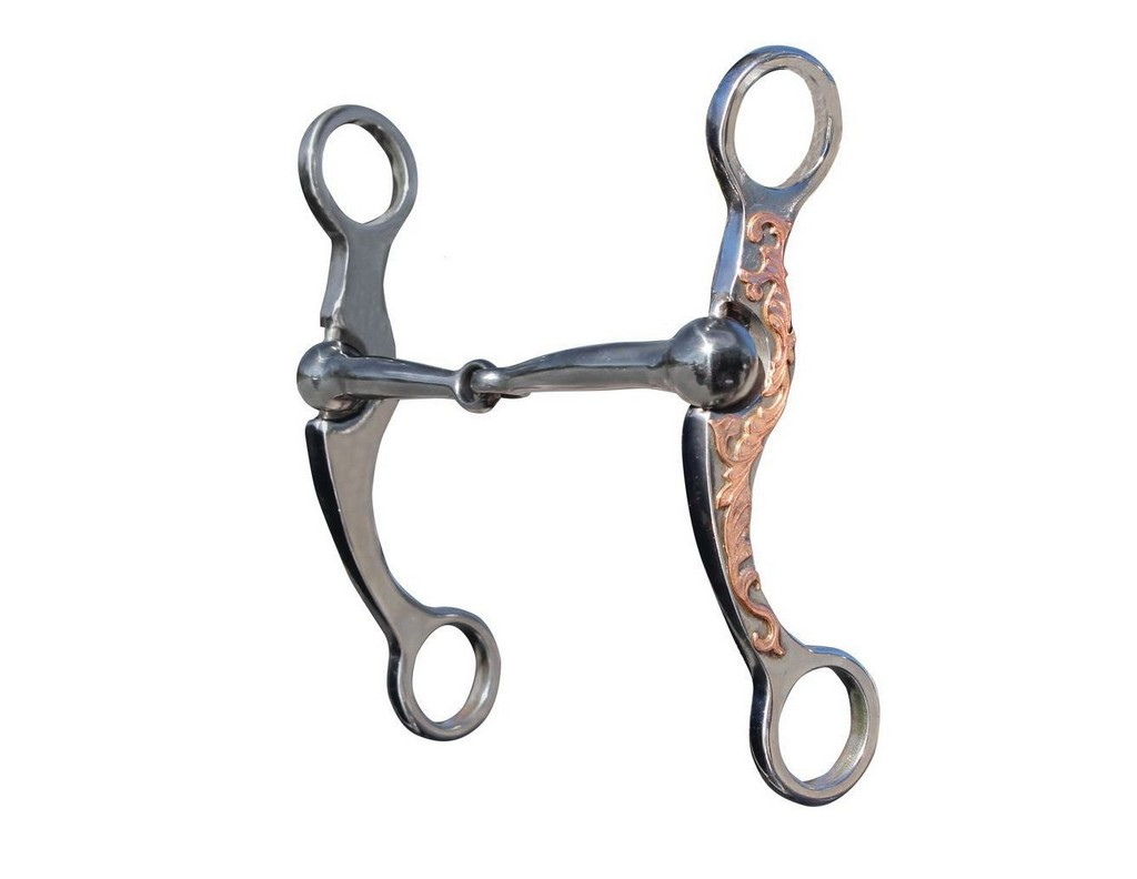 """Professionals Choice Bit Stockman Snaffle Mouth Copper 6"""" PCB-122"""