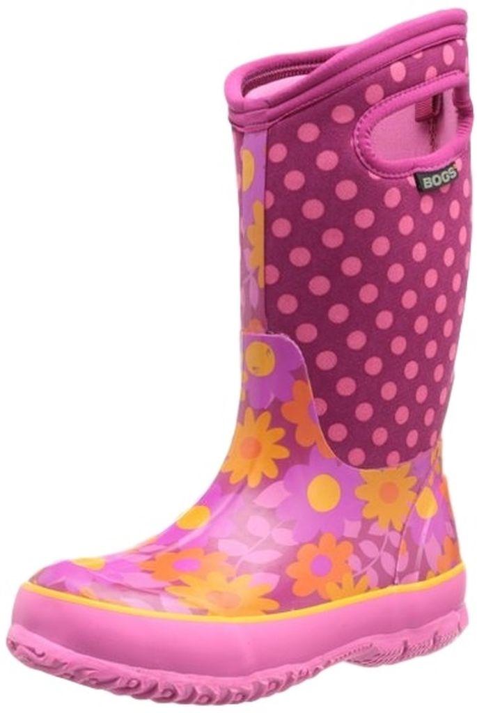 """Bogs Muck Boots Boys Kids Girl 10"""" Flower Dots Rubber ..."""