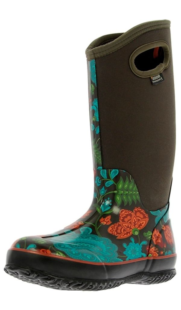 bogs muck boots womens classic winter blooms wp