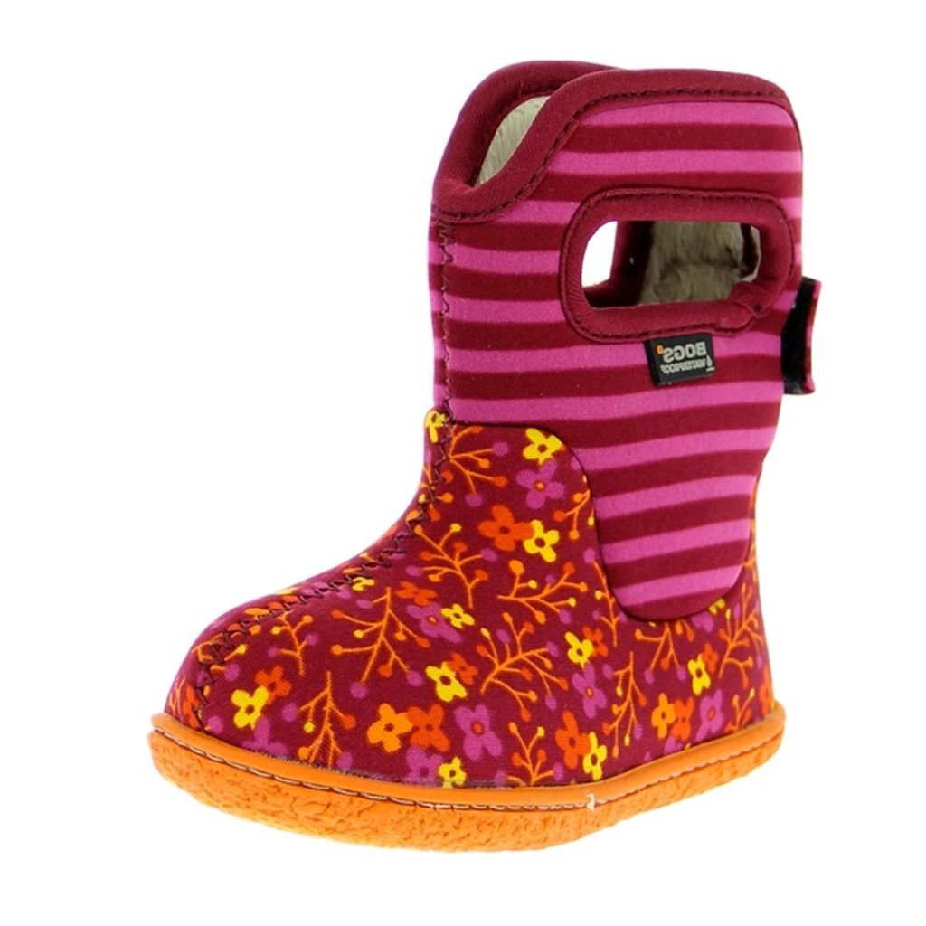bogs boots baby classic flower stripe wp rubber