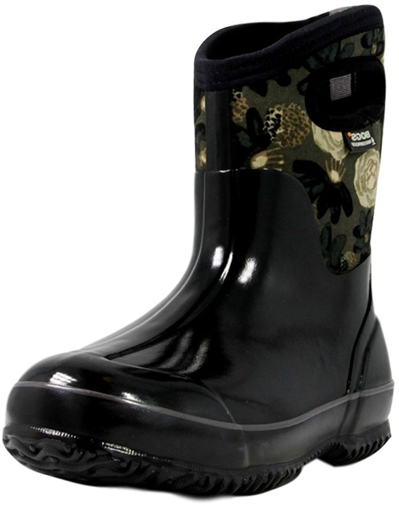 Original Bogs Womenu0026#39;s Classic Watercolor Mid Black Multi Boots 71788-009 | EBay