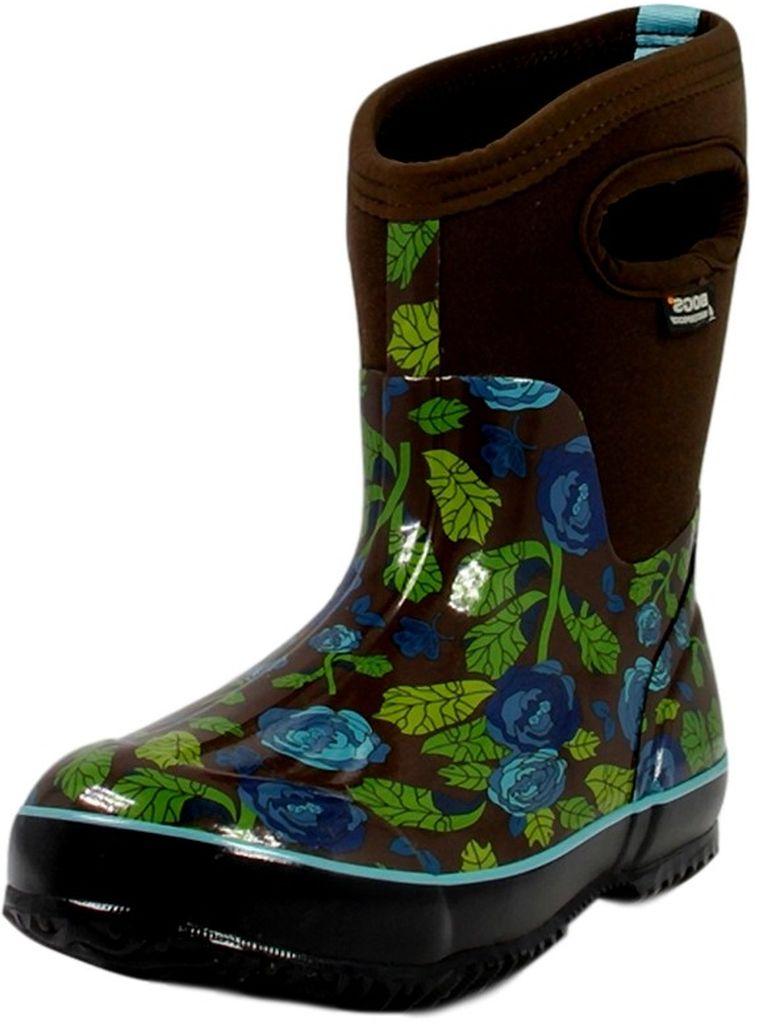 bogs muck boots womens classic rose garden mid waterproof