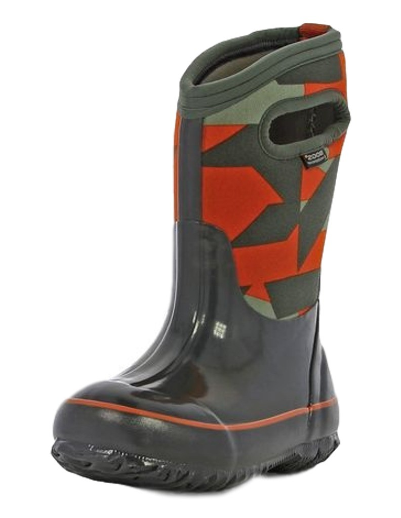 Bogs Muck Boots Boys Kids Classic Geo Pull On Waterproof Rubber