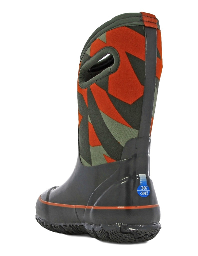 Bogs Muck Boots Boys Kids Classic Geo Pull On Waterproof Rubber ...