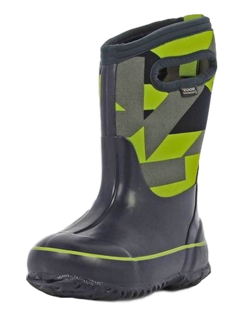 Bogs Muck Boots Boys Kids Classic Geo Pull On Waterproof Rubber ...