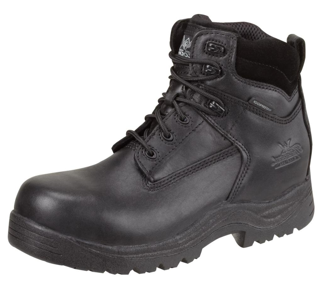 Thorogood Work Boots Mens CT Waterproof Grain Leather Black 804-6037