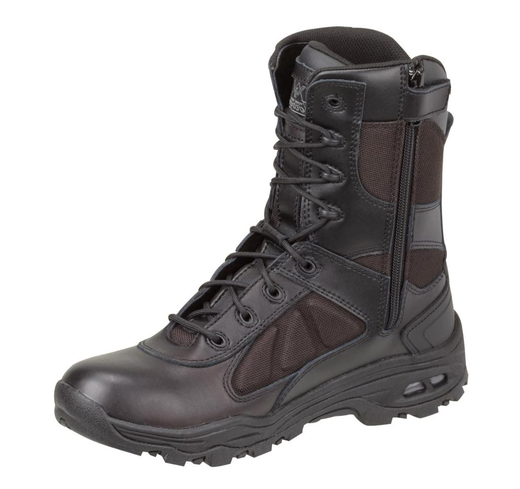 Thorogood Work Boots Mens Stealth VGS Zip Military Black 834-6330
