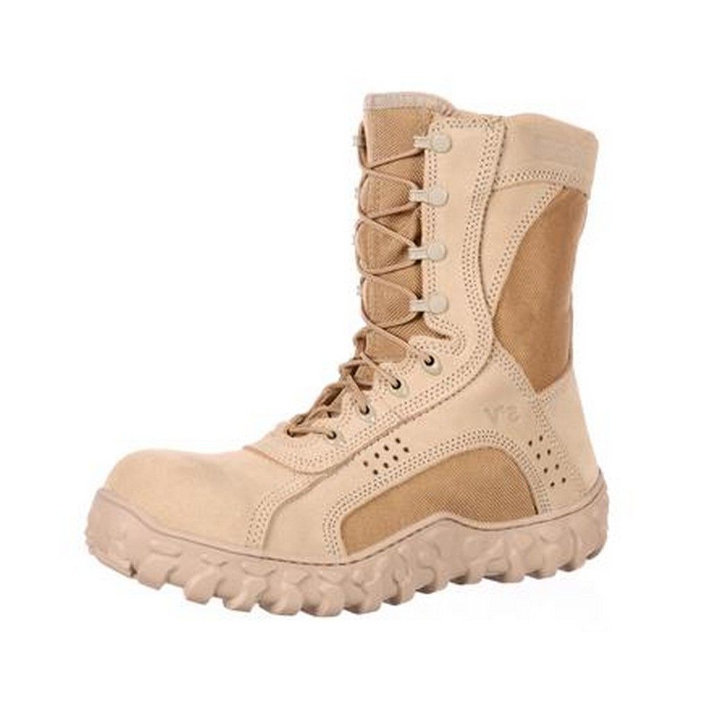 Rocky Work Boots Mens S2V CT Tactical Military Desert Tan RKYC028