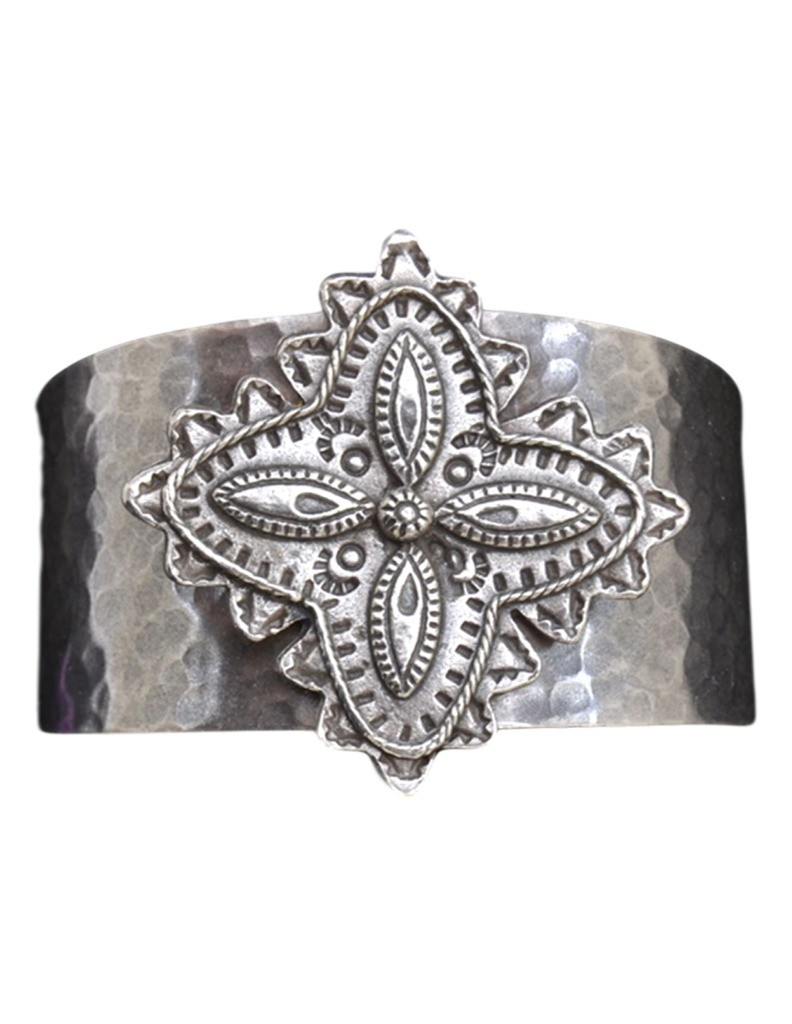 loulabelle western jewelry womens cuff flower hammered