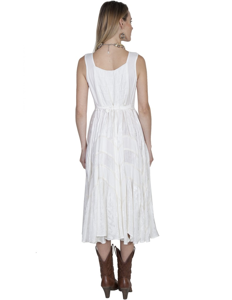 scully western dress womens full length lace up sleeveless