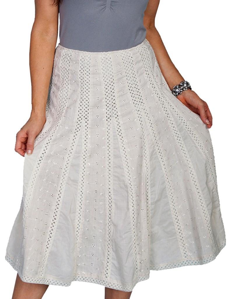 scully western skirt womens a line crochet panel midi