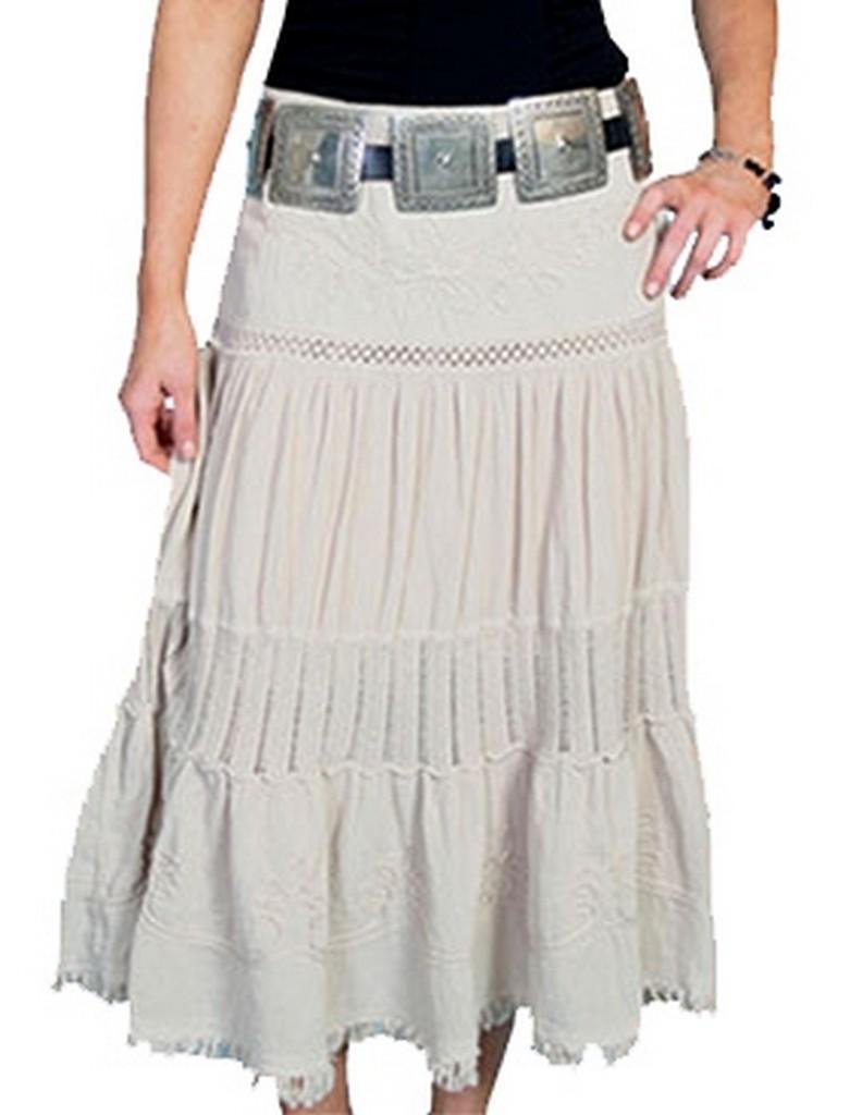 scully western skirt womens cantina crochet design elastic