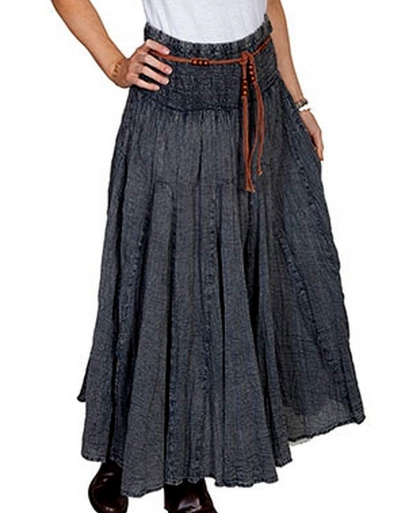 scully western skirt womens cantina length embroidery