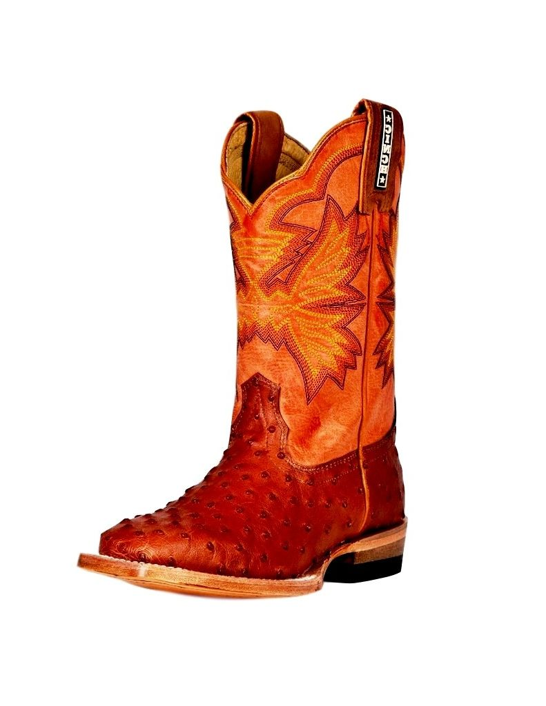 CINCH Western Boots Boys Cowboy Leather Ostrich Print Tan KCK104 at Sears.com