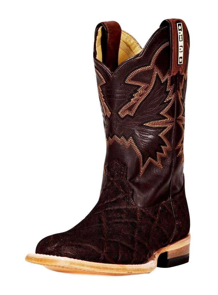 CINCH Western Boot Boys Cowboy Leather Elephant Print Chocolate KCK105