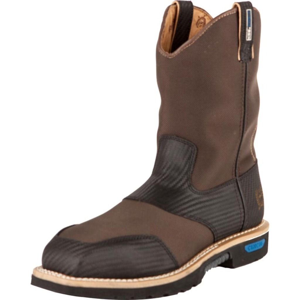 cinch work boots mens wrx leather rubber sole brown wxm106