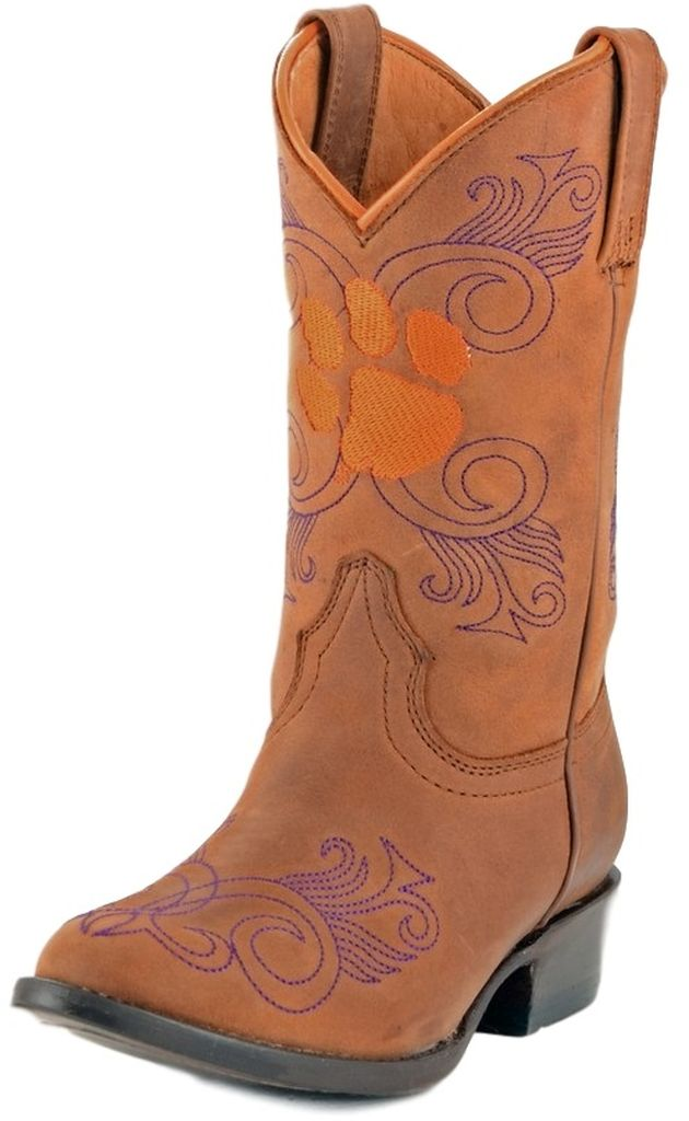Gameday Boots Girls College Team Clemson Tigers Honey CL-G007-1 at Sears.com
