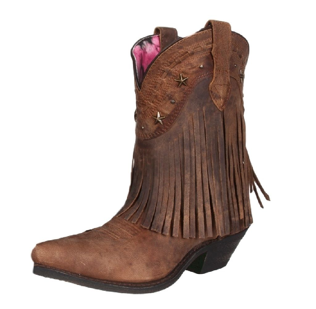 dingo western boots womens hang low fringe brown di7441