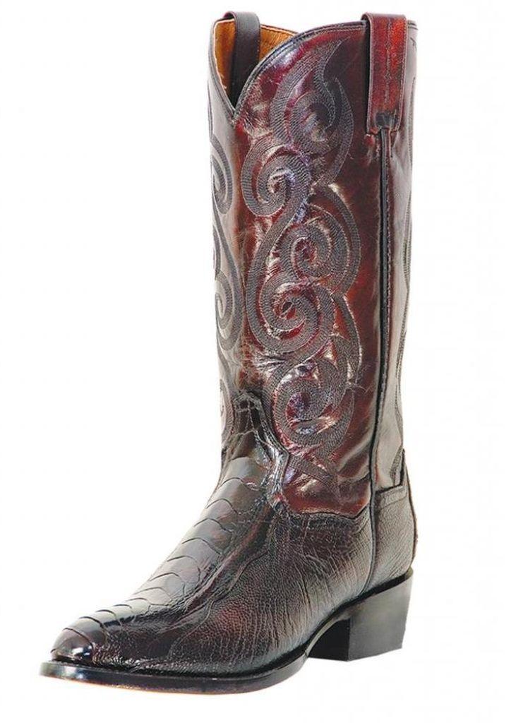 Dan Post Western Boots Mens Bellevue Ostrich Leg Black Cherry DP26629 at Sears.com