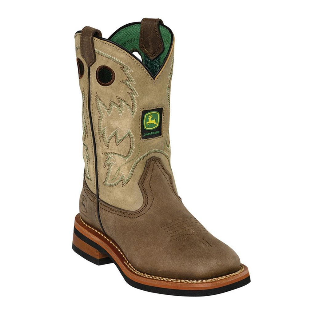 johnny popper western boots boys deere cowboy bronco