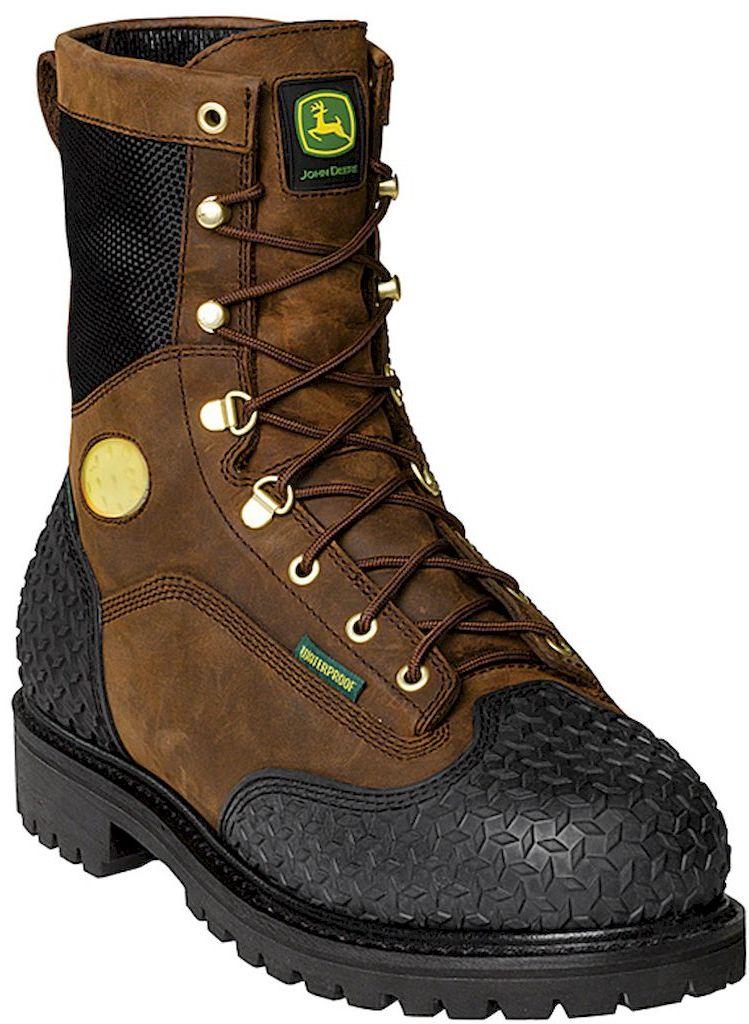 John Deere Work Boots Mens Steel Toe Waterproof Insulated Lacer JD9351