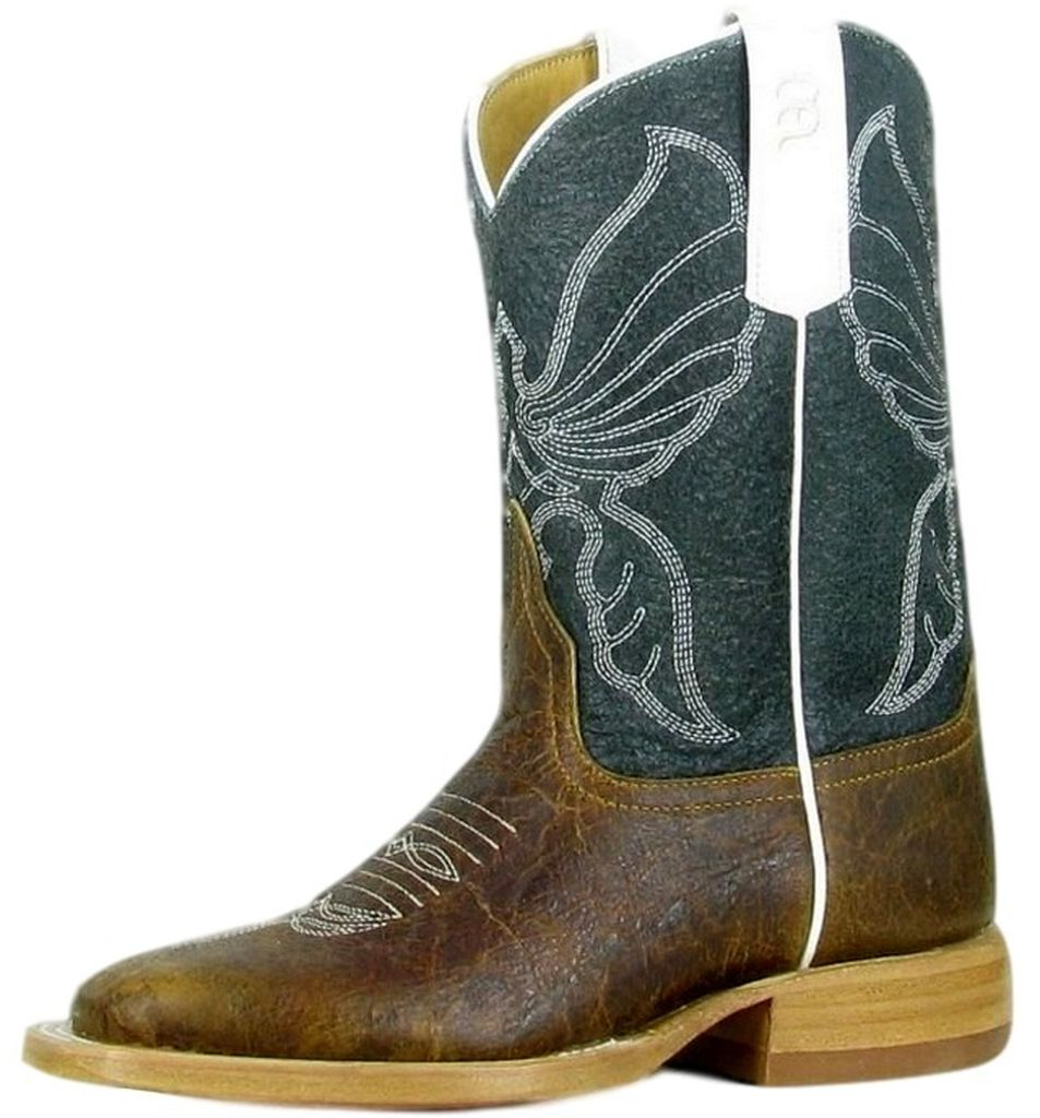 Anderson Bean Western Boots Boys Cowboy Kids Square Toe Tan K1072 at Sears.com