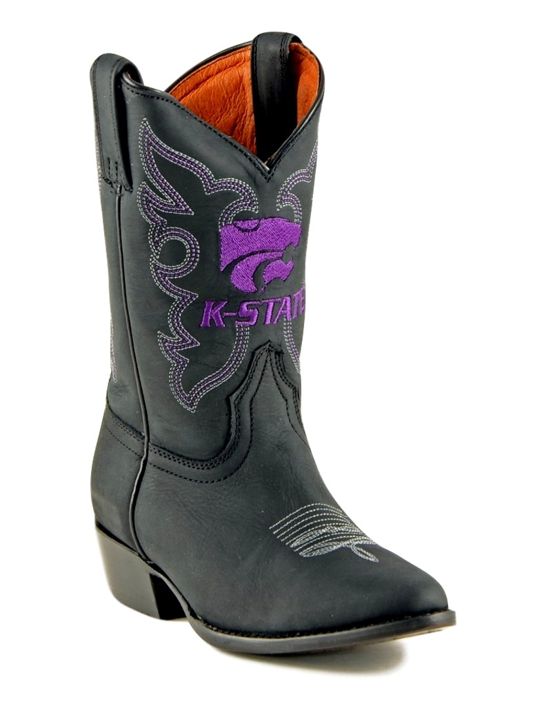 Gameday Boots Boys Cowboy College Team Kansas State Black KST-B015-2 at Sears.com