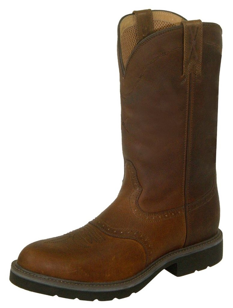 Twisted X Work Boots Mens Cowboy Leather Oiled Brown MCW0004
