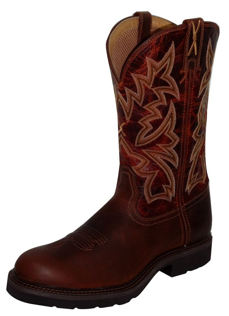 Twisted X Work Boots Mens Cowboy Leather Brandy Cognac MCW0008