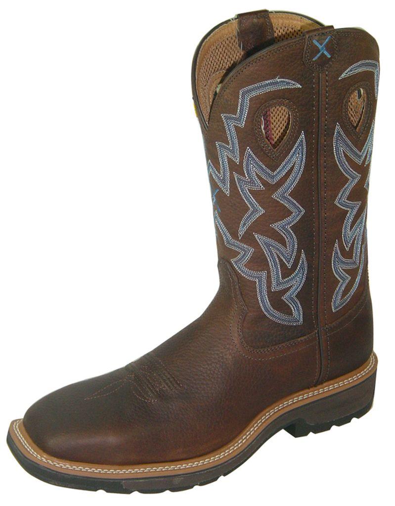 Twisted X Work Boots Mens Western Steel Toe Brown Pebble MLCS003