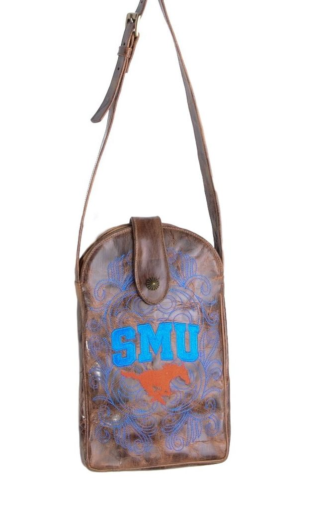 Gameday Boots Gameday Purse Womens Southern Methodist Mustangs Brass SMU-P006-1