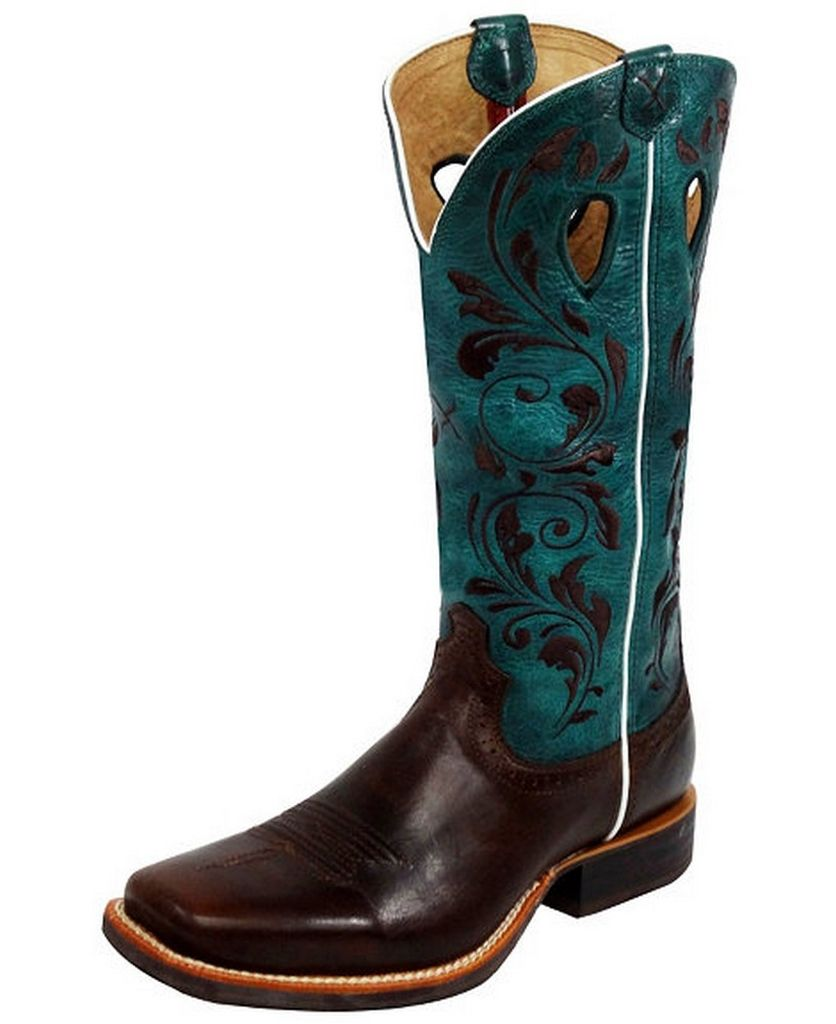 twisted x western boots womens ruff stock chocolate