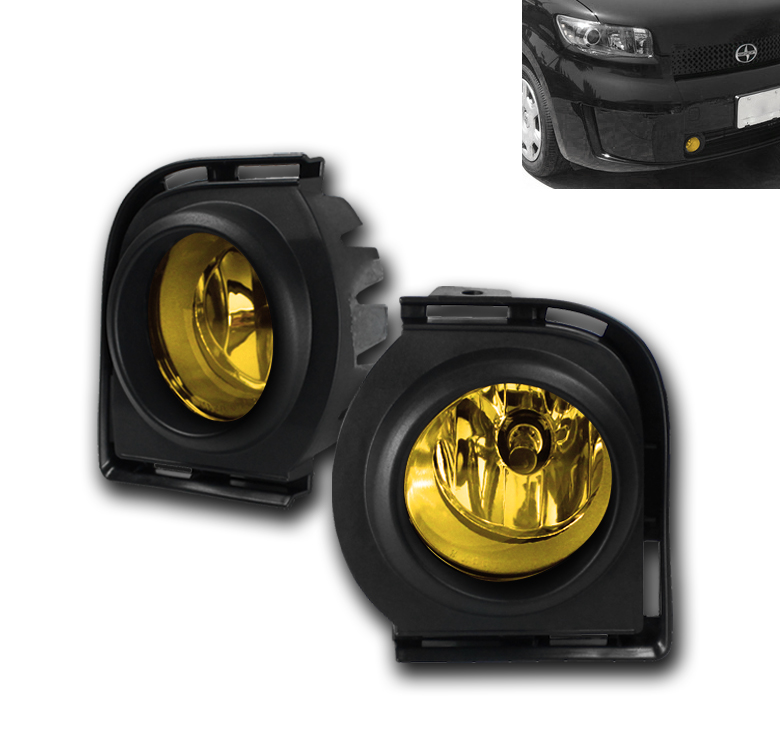 front bumper yellow fog light kit harness switch set for