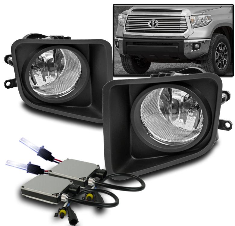 2014 2017 toyota tundra pickup front bumper chrome fog lights switch 10k hid set ebay. Black Bedroom Furniture Sets. Home Design Ideas