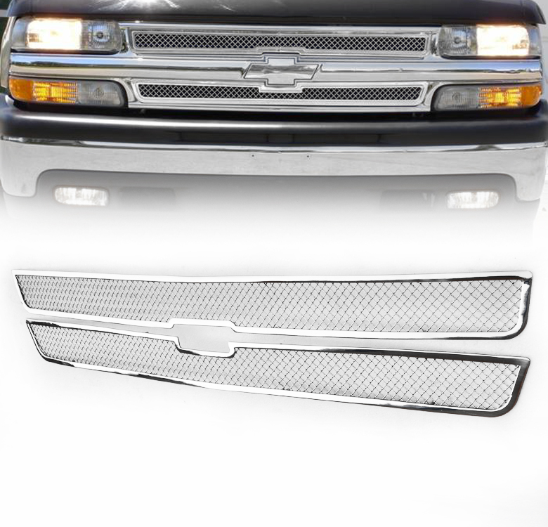 chevy 1999 02 silverado 2000 suburban tahoe front mesh grille grill insert ebay