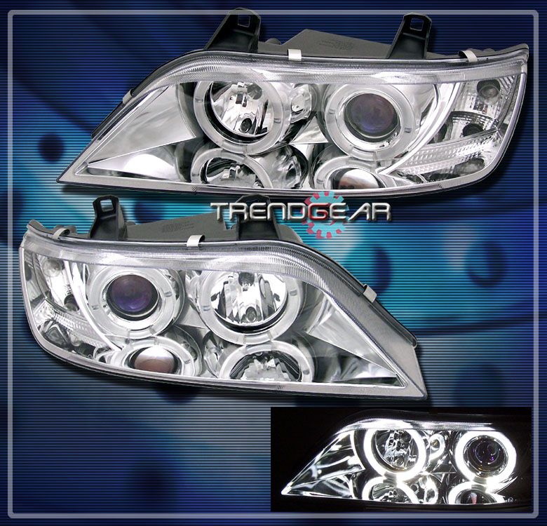 Bmw Z3 Colours: 1996-2002 BMW Z3 HALO PROJECTOR HEADLIGHTS LAMPS CHROME