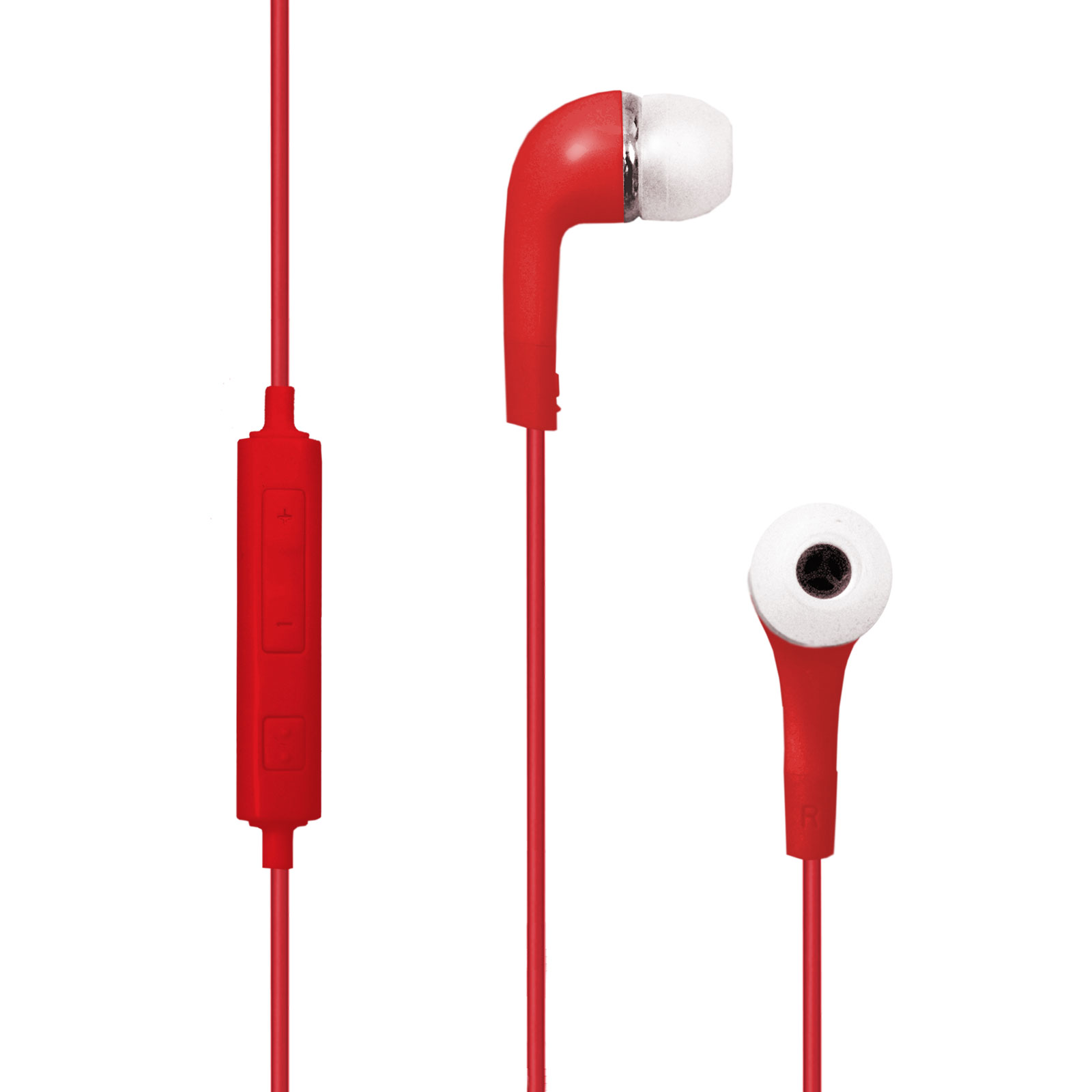 Earbuds microphone volume control - earbuds with microphone red