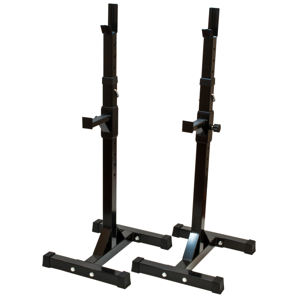 Black Exercise Weight Lift Adjustable Barbell Squat Bench Press Workout Stand Ebay