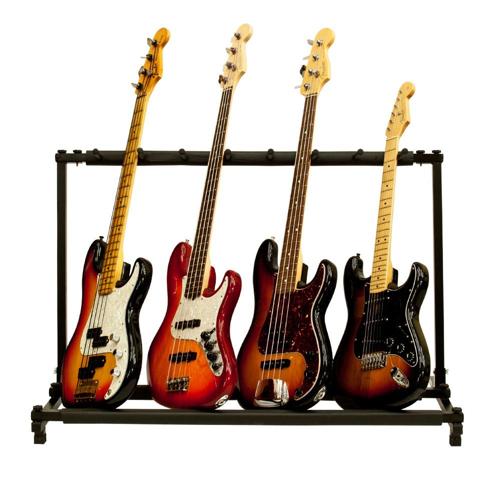 7 Folding Guitar Rack Storage Organizer Stand Holder Electric Acoustic Bass Slot