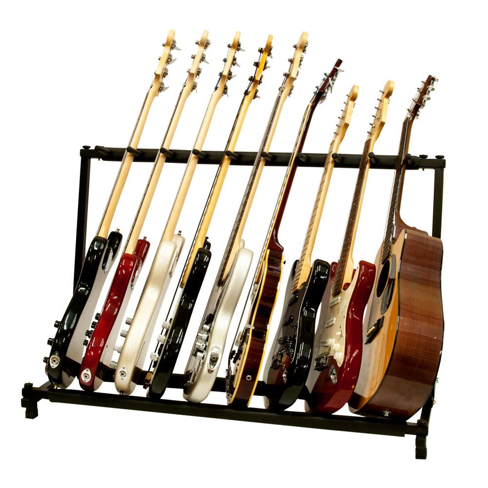 9 Multiple Guitar Folding Rack Storage Organizer Stand Holder Electric Acoustic