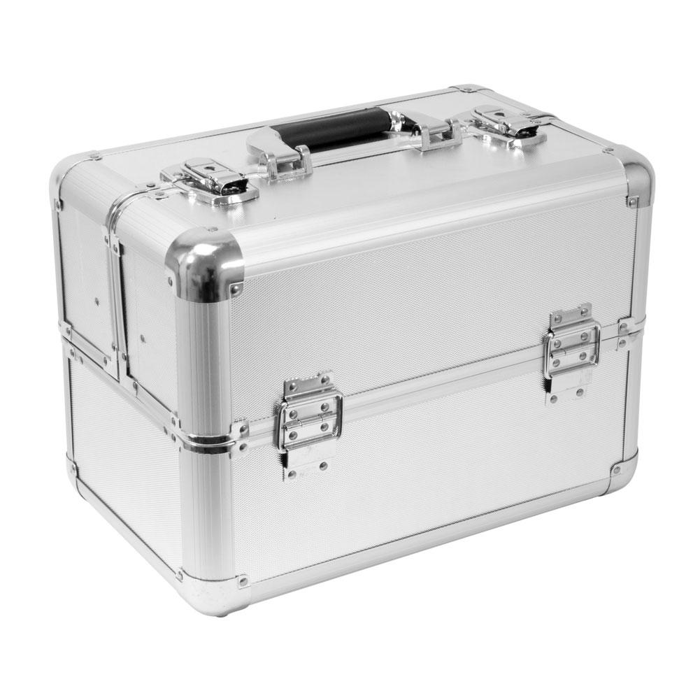 PRO Aluminum Travel Makeup Cosmetic Artist Case Train Organizer Locking Box Bag