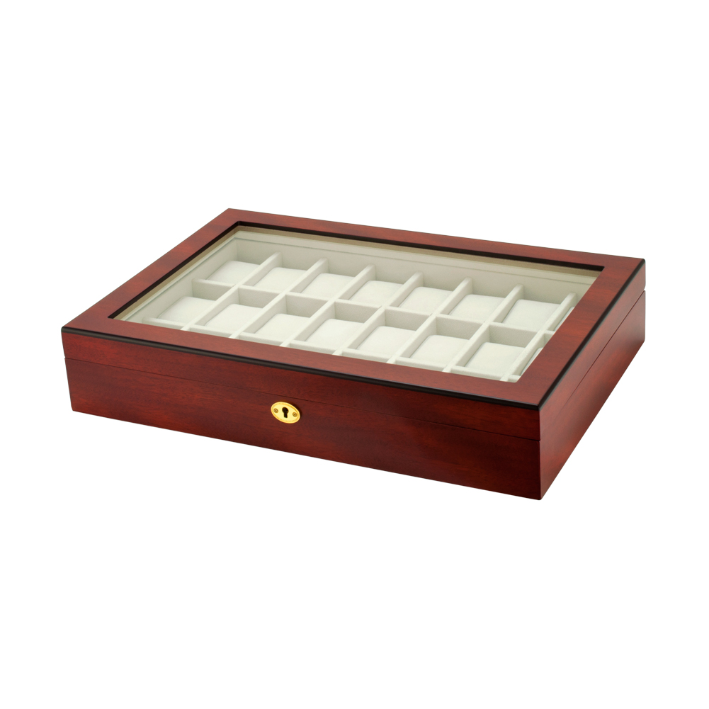 Watch Box Choose Case Size Wood Glass Display Storage