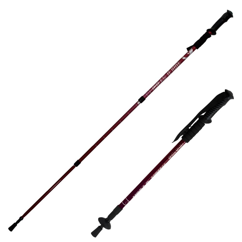 Pair Trekking Hiking Sticks 2 Adjustable Alpenstock Walking Pole Anti-Shock Cane