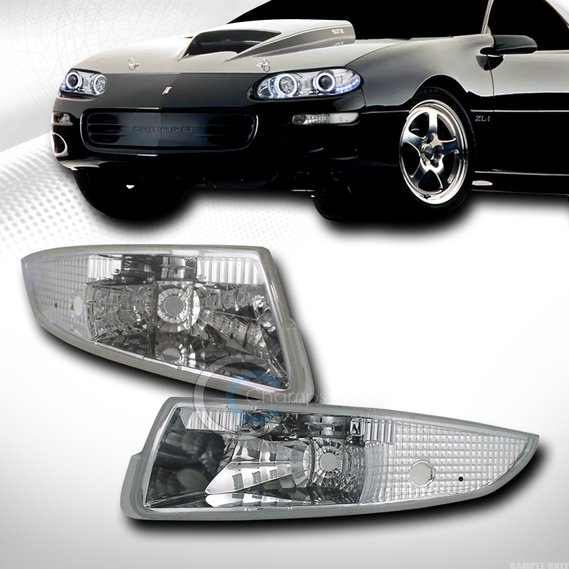 EURO CHROME FRONT SIGNAL PARKING BUMPER LIGHTS LAMPS K2 1993-2002 CHEVY CAMARO