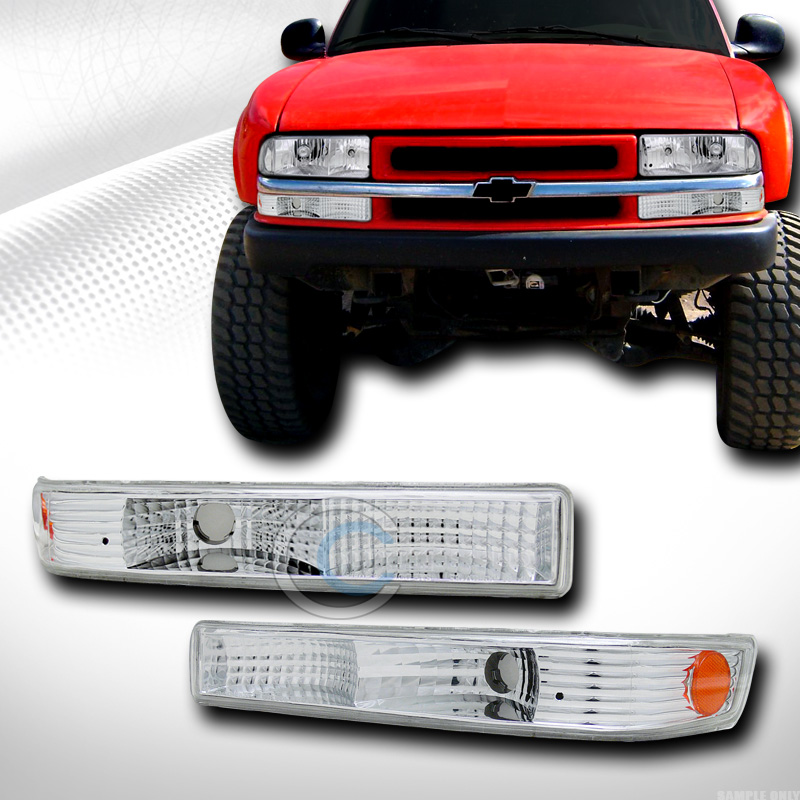 CHROME AMBER SIGNAL PARKING BUMPER LIGHTS KS 1998-2004 CHEVY S10 BLAZER/SONOMA