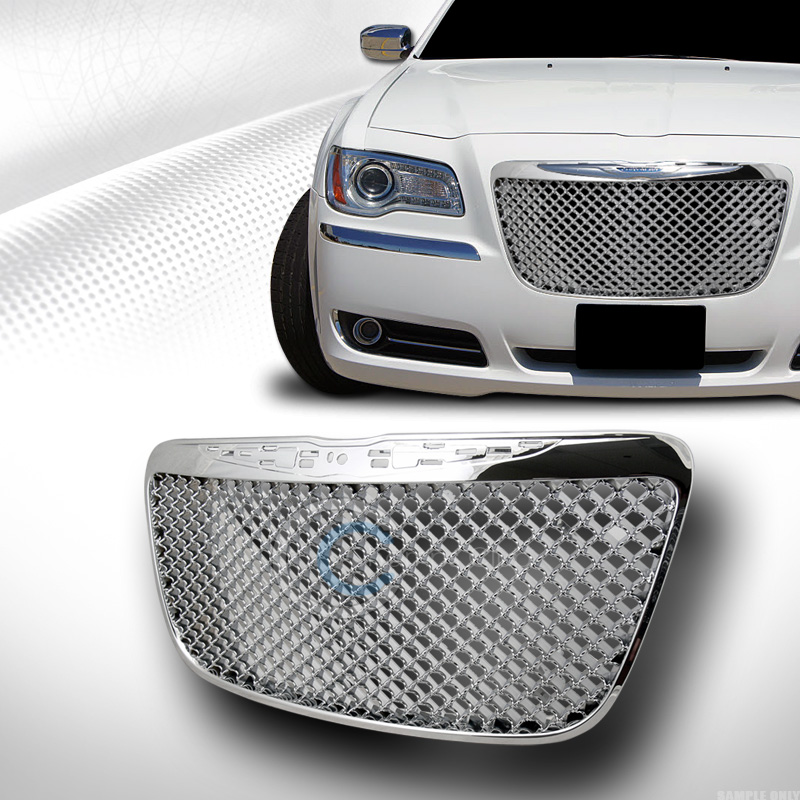 CHROME MESH FRONT HOOD BUMPER GRILL GRILLE COVER ABS 11-13