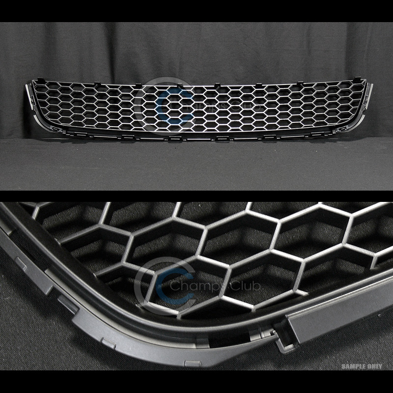 BLK HONEYCOMB MESH FRONT LOWER BUMPER GRILL GRILLE 10