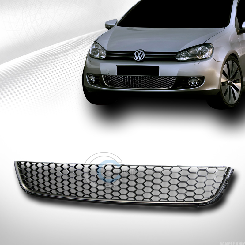 blk honeycomb mesh front lower bumper grill grille 10. Black Bedroom Furniture Sets. Home Design Ideas