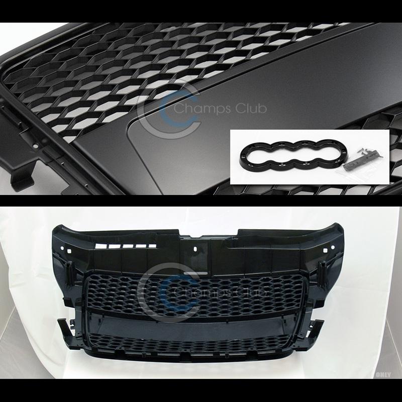 blk rs honeycomb mesh front hood bumper grill grille guard. Black Bedroom Furniture Sets. Home Design Ideas